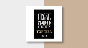 Koutalidis Law Firm Legal 500 EMEA Top Tier 2019