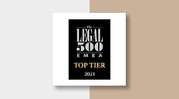 Koutalidis Law Firm Legal 500 EMEA Top Tier 2021