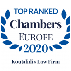 Koutalidis Law Firm Top Ranked Chambers Europe 2020