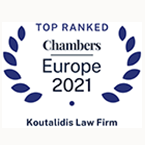 Koutalidis Law Firm Top Ranked Chambers Europe 2021
