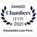 Koutalidis Law Firm Top Ranked Chambers High Net Worth 2021