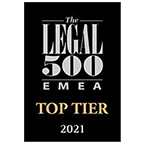 LEGAL 500 TOP TEAR 2021